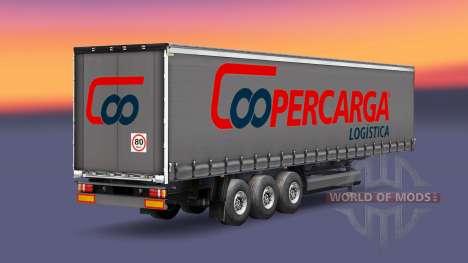La peau Coopercarga Logistique pour les semi-rem pour Euro Truck Simulator 2