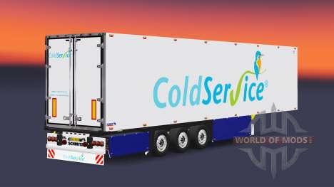 Semitrailer refrigerator Schmitz Coldservice für Euro Truck Simulator 2