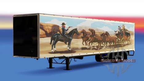 De tous les métaux semi-remorque, La Bandit pour American Truck Simulator