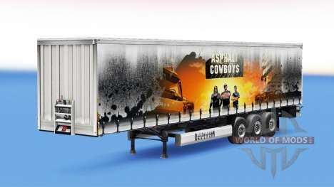 Asphalt-Cowboys Haut auf dem Anhänger für Euro Truck Simulator 2