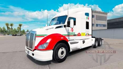 Haut Pemex auf einem Kenworth-Zugmaschine für American Truck Simulator