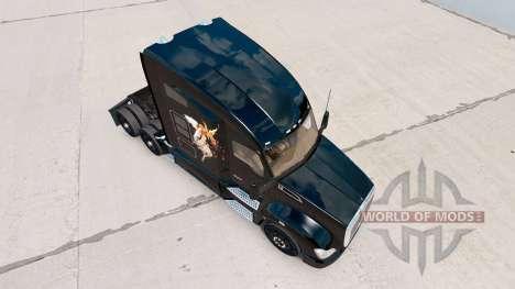 La peau Good vs Evil sur un tracteur Kenworth pour American Truck Simulator