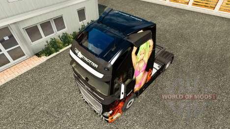 Nicki Minaj Haut für Volvo-LKW für Euro Truck Simulator 2