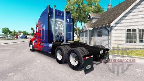 Optimus Prime-skin für den truck Peterbilt für American Truck Simulator