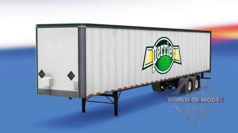 Haut Perrier auf der all-Metall-Anhänger für American Truck Simulator
