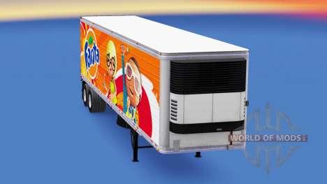 Fanta de la peau pour les semi-frigorifique pour American Truck Simulator