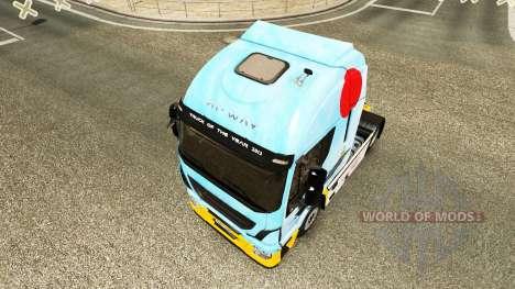 Haut Mitsubishi A6M2 Zero in der Zugmaschine Ive für Euro Truck Simulator 2