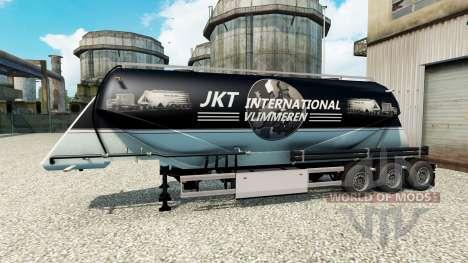 JKT International skin für die Auflieger-Zement- für Euro Truck Simulator 2
