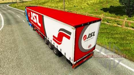 La peau Julio Simoes Logistique pour le semi pour Euro Truck Simulator 2