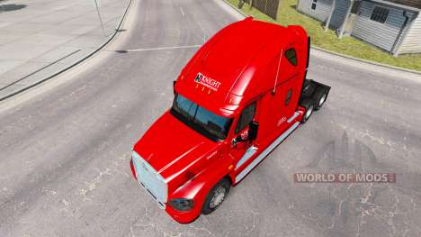 La peau sur le Chevalier de camion Freightliner  pour American Truck Simulator
