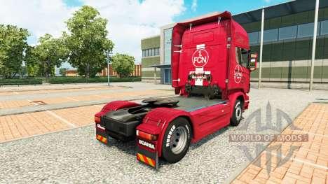 De la peau 1. FC Nuremberg dans le camion Scania pour Euro Truck Simulator 2