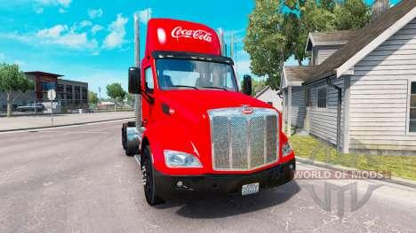 La peau de Coca-Cola camion Peterbilt pour American Truck Simulator