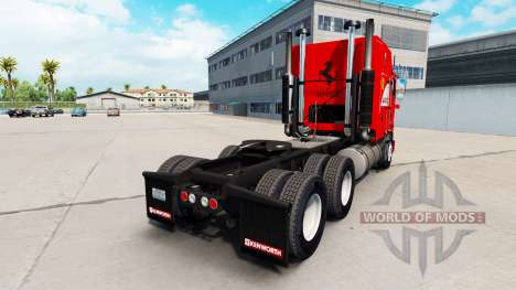 Scuderia Ferrari skin für Kenworth K100 LKW für American Truck Simulator