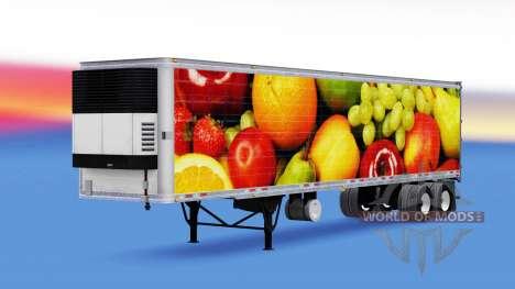 Haut den Frischen Früchten in reefer-Auflieger für American Truck Simulator