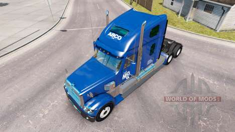 De la peau pour ABCO camion Freightliner Coronad pour American Truck Simulator