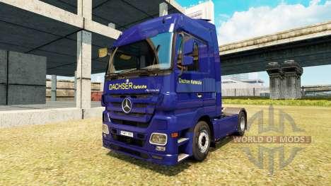 Скин Dachser Karlsruhe v2.1 на Mercedes-Benz pour Euro Truck Simulator 2