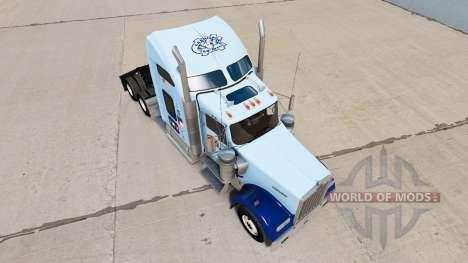 Haut UNC Tarheel auf die LKW-Kenworth W900 für American Truck Simulator