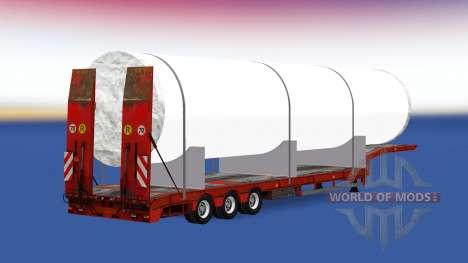 Faible balayage avec un gros tuyau blanc pour American Truck Simulator