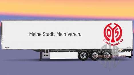 Semi-Trailer Chereau 1. FSV Mainz 05 für Euro Truck Simulator 2