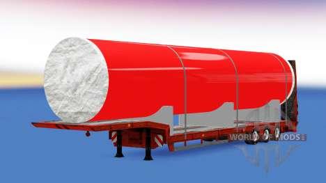 Faible balayage avec un gros tuyau en métal pour American Truck Simulator