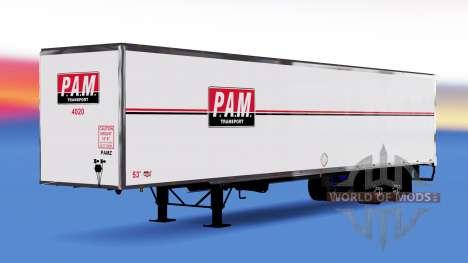 All-Metall-Auflieger PAM für American Truck Simulator
