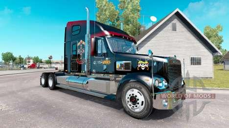 La peau Guns N Roses sur le camion Freightliner  pour American Truck Simulator