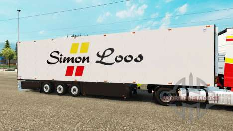 Semitrailer refrigerator Schmitz Simon Loos pour Euro Truck Simulator 2