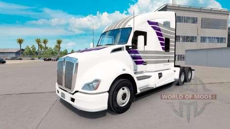 La peau Scllops sur un tracteur Kenworth pour American Truck Simulator