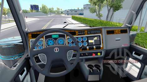 La couleur bleue de l'appareil, d'un Kenworth W9 pour American Truck Simulator