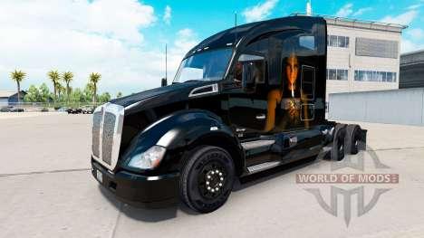 Haut Light my Fire auf einem Kenworth-Zugmaschin für American Truck Simulator