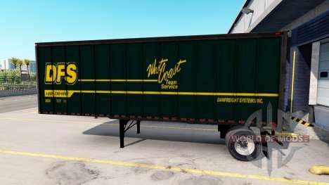 Semi-Trailer mit echten Firmenlogos für American Truck Simulator
