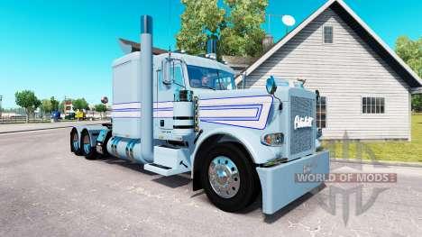 Peau Bleu rayures blanches pour le camion Peterb pour American Truck Simulator