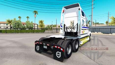La peau Yekko Yekk Gamer sur tracteur Volvo VNL  pour American Truck Simulator