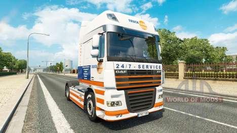 Truckland de la peau pour DAF camion pour Euro Truck Simulator 2
