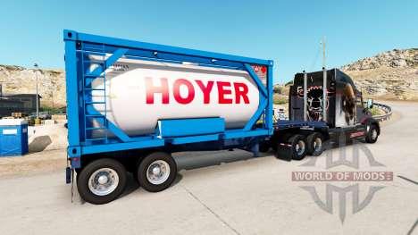 La semi-remorque-le conteneur de camion avec des pour American Truck Simulator