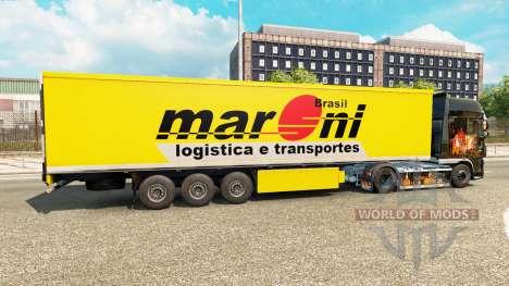 Maroni Transportes de la peau pour les remorques pour Euro Truck Simulator 2