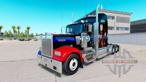 Haut Bürgerkrieg für die LKW-Kenworth W900 für American Truck Simulator