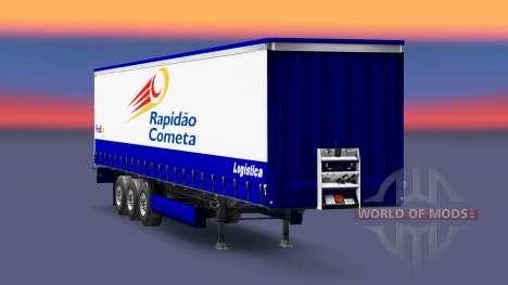 Haut Rapidao Cometa auf den trailer für Euro Truck Simulator 2