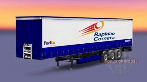 La peau Rapidao Cometa sur la remorque pour Euro Truck Simulator 2