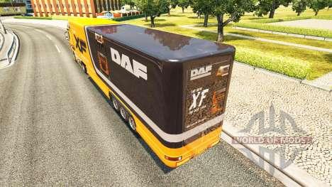 Semi-trailer-Kühlschrank LKW DAF XF für Euro Truck Simulator 2
