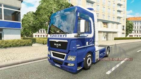 Mainfreight Haut für MAN-LKW für Euro Truck Simulator 2