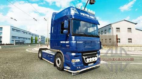 Pieter Smit peau pour DAF XF 105.510 tracteur pour Euro Truck Simulator 2