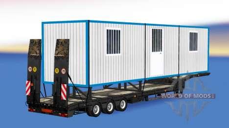 Low sweep mit einer Bau-Anhänger für American Truck Simulator