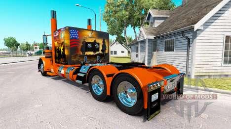 Haut-USA-Texas-truck-Peterbilt 389 für American Truck Simulator