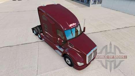 La Peau Millis Transfer Inc. sur le camion Kenwo pour American Truck Simulator