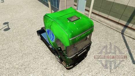 Exklusive Metallic-skin für den Scania truck für Euro Truck Simulator 2