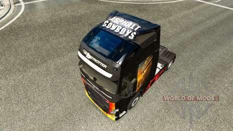 L'asphalte des cow-boys de la peau pour Volvo ca pour Euro Truck Simulator 2