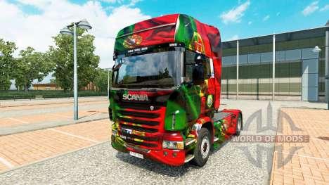 La peau Portugal Copa 2014 pour Scania camion pour Euro Truck Simulator 2