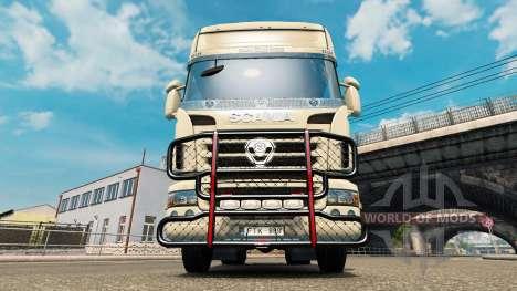 Le V8 de pare-chocs sur le tracteur Scania pour Euro Truck Simulator 2