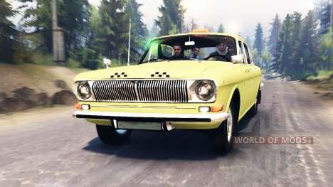 GAZ-24 Wolga Taxi für Spin Tires